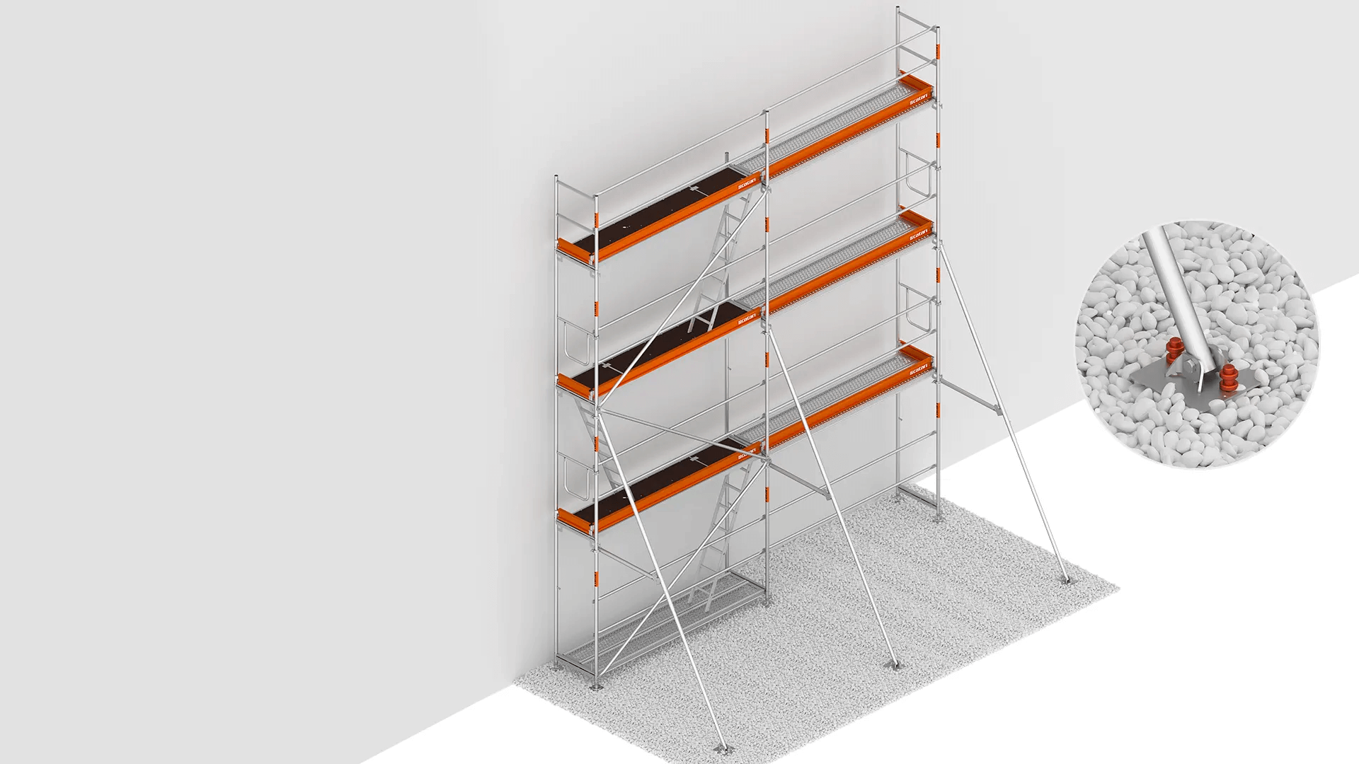 suspended scaffolding attachment