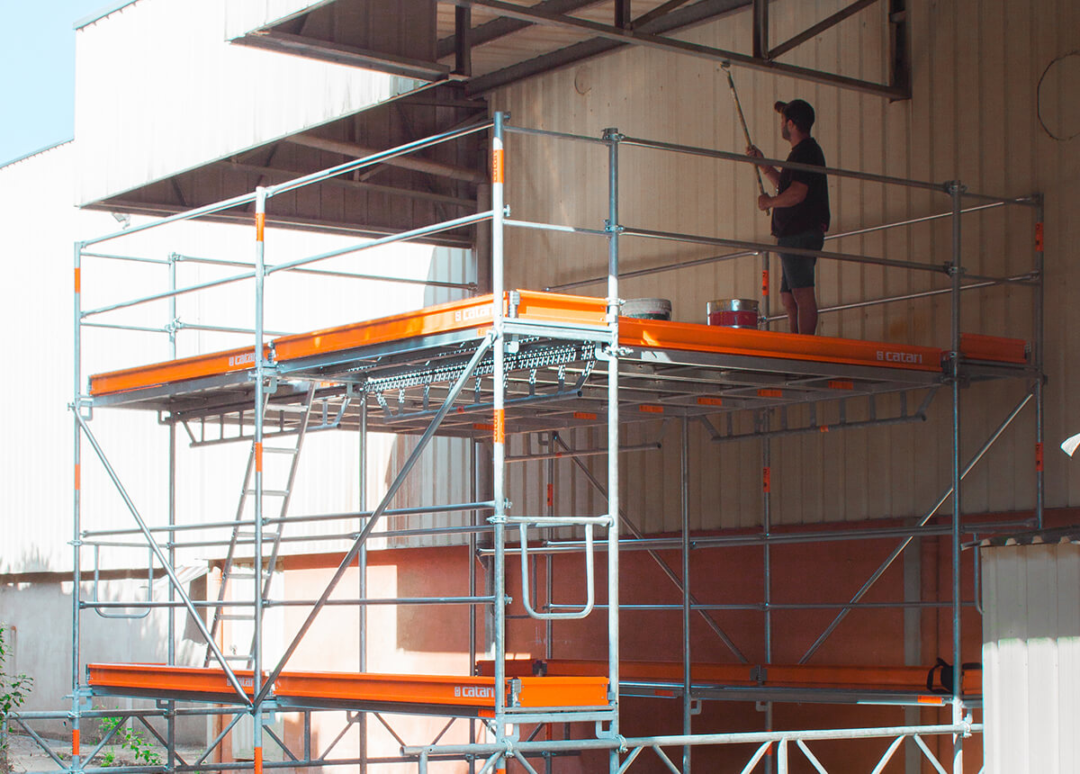 birdcage scaffolding for ceiling works